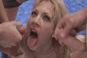 Flotter Dreier mit anschließend versauter Spermaorgie